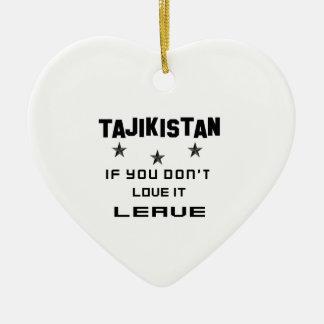 それを愛さなければタジキスタン、許可 セラミックオーナメント