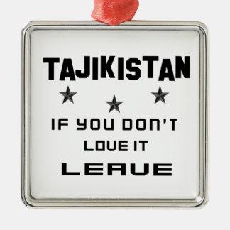 それを愛さなければタジキスタン、許可 メタルオーナメント
