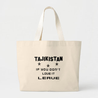 それを愛さなければタジキスタン、許可 ラージトートバッグ