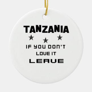 それを愛さなければタンザニア、許可 セラミックオーナメント