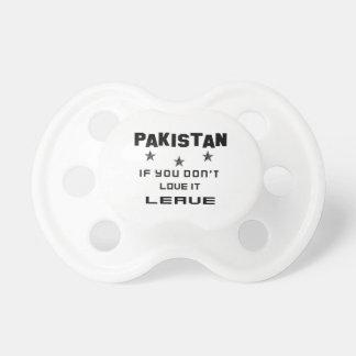 それを愛さなければパキスタン、許可 おしゃぶり