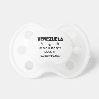 それを愛さなければベネズエラ、許可 おしゃぶり