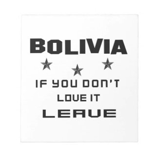 それを愛さなければボリビア、許可 ノートパッド