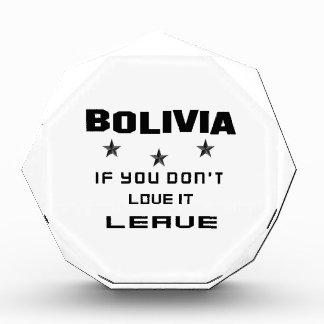 それを愛さなければボリビア、許可 表彰盾