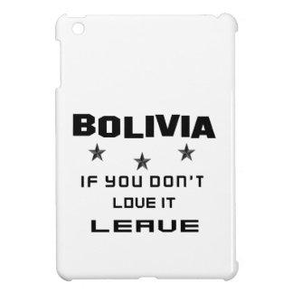 それを愛さなければボリビア、許可 iPad MINI CASE
