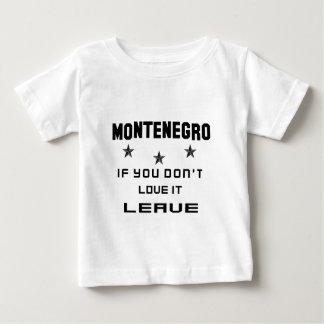 それを愛さなければモンテネグロ、許可 ベビーTシャツ