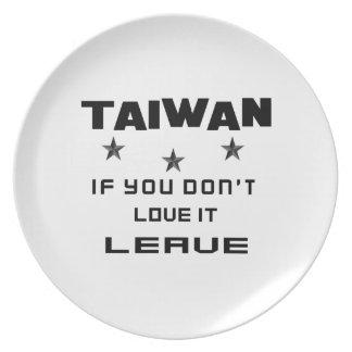それを愛さなければ台湾、許可 プレート