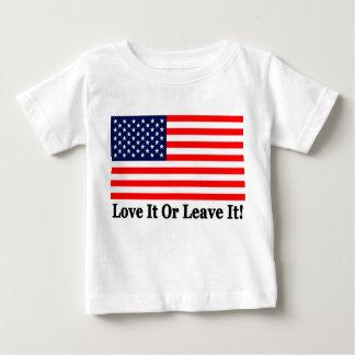 それを愛しますか、または残して下さい! ベビーTシャツ