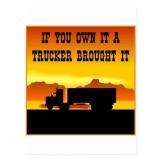 それを所有すればトラック運転手はそれに#0011を持って来ました ポストカード