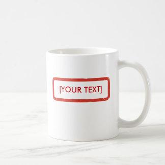 それを押して下さい! テンプレートのマグ コーヒーマグカップ