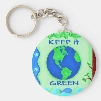それを緑の保存の地球の環境の芸術保って下さい キーホルダー