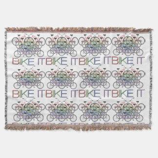 それを自転車に乗って下さい! 連結の自転車、カラフルのトン! スローブランケット
