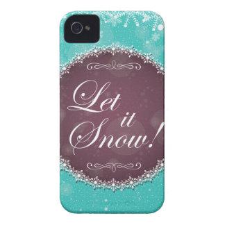 それを雪突風の白い女王の休日許可される Case-Mate iPhone 4 ケース