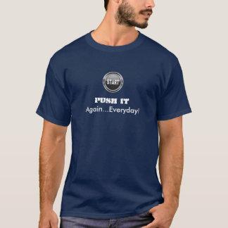 """""""それを""""解決しますTシャツを押して下さい Tシャツ"""