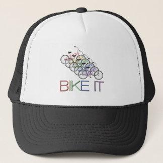 それを- 5台の自転車との単語自転車に乗って下さい キャップ