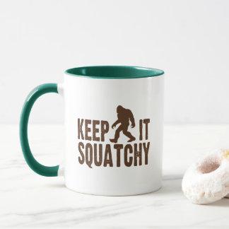 それをSquatchyのコーヒー・マグ保って下さい マグカップ