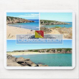 それイタリア-シシリー- Calamoscheのビーチ- マウスパッド