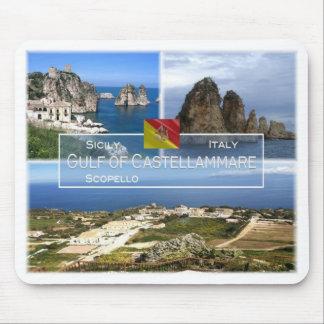 それイタリア-シシリー- Golfo di Castellammare - マウスパッド