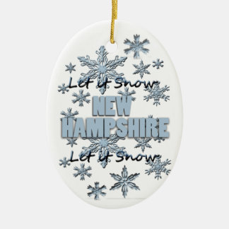それオーナメント割り当てられるニューハンプシャーのクリスマスの雪が降るため セラミックオーナメント