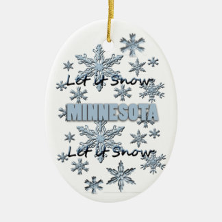 それオーナメント割り当てられるミネソタのクリスマスの雪が降るため セラミックオーナメント