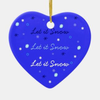 それオーナメント割り当てられる雪が降るため セラミックオーナメント