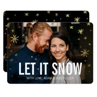 それカード割り当てられる金ゴールドの輝やきの休日の写真雪が降るため カード