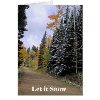 それクリスマスカード割り当てられる雪が降るため ノートカード