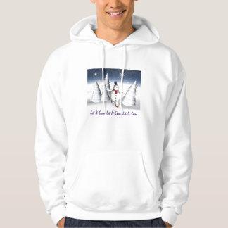 それスエットシャツ割り当てられるスケートで滑るの雪だるまの雪が降るため パーカ
