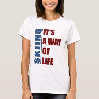 それスキーは生き方です Tシャツ