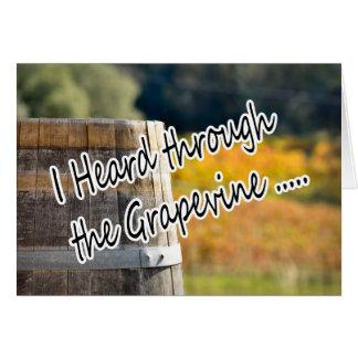 それデマのブドウ園を通って聞かれる カード