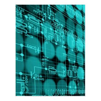 それプログラマーハイテクなコンピュータサーキットボード ポストカード