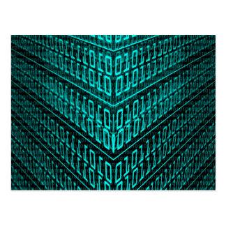 それプログラミングコンピュータ2進符号プログラマー ポストカード