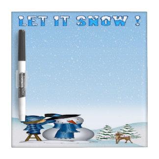 """それホワイトボード8""""割り当てられて雪だるまの雪が降るためx 8"""" ホワイトボード"""