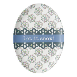 それ休日割り当てられる雪片パターン雪が降るため 磁器大皿
