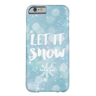 それ冷ややかな淡いブルーの水晶《写真》ぼけ味割り当てられる|の雪が降るため BARELY THERE iPhone 6 ケース