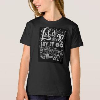 それ割り当てられてカスタムにアートワークの女の子のティーは行きます Tシャツ