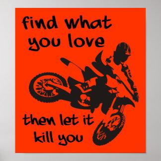 それ割り当てられる殺すため土のバイクのモトクロスポスター印 ポスター