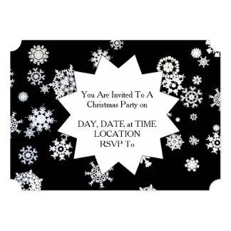 それ割り当てられる雪が降るため! クリスマスのパーティの招待状 カード