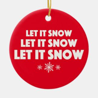 それ割り当てられる雪が降るため! セラミックオーナメント