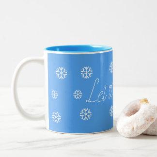 それ割り当てられる雪が降るため ツートーンマグカップ