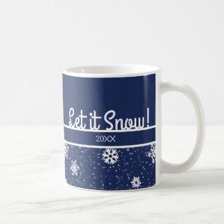 それ割り当てられる雪が降るため、海軍雪片 コーヒーマグカップ