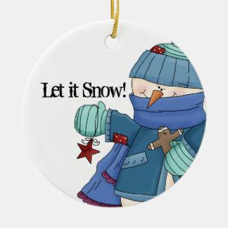 それ割り当てられる雪が降るため! 雪だるまのオーナメント1 セラミックオーナメント