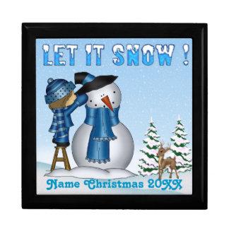 それ割り当てられる雪だるまのギフト用の箱か装身具箱雪が降るため ギフトボックス