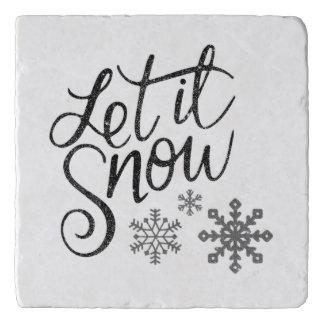 それ大理石の台所ギフトTrivet割り当てられる雪が降るため トリベット