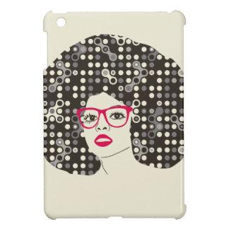 それ官能的で赤い唇およびtechieのアフロ型の女の子 iPad mini case
