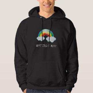 それ意味する何が公式の二重虹か。 フード付きスウェットシャツ パーカ