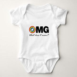 それ意味する何が新しい二重虹のTシャツのomgか。 ベビーボディスーツ