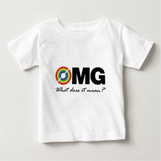 それ意味する何が新しい二重虹のTシャツのomgか。 ベビーTシャツ