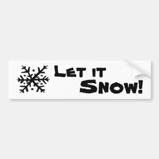 それ浮遊雪片割り当てられる雪が降るため バンパーステッカー