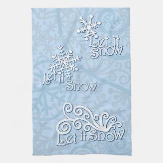 それ淡いブルーの台所タオル割り当てられる雪が降るため キッチンタオル